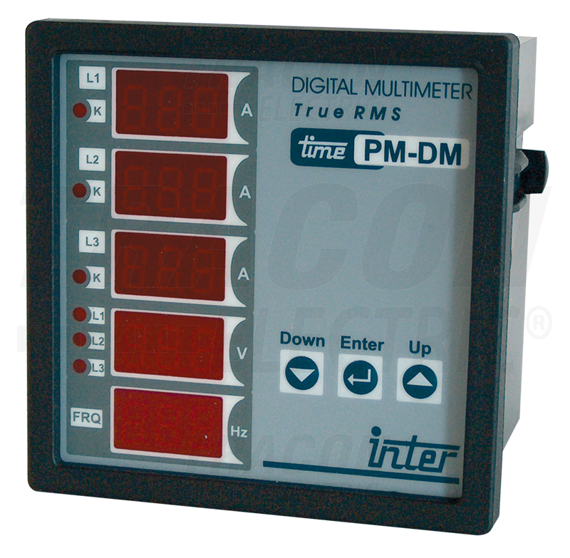 Measuring Electrical Panels : Digital multimeter with relay output panel mount mm